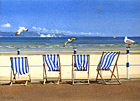 One of Margaret Heath's paintings of deck chairs